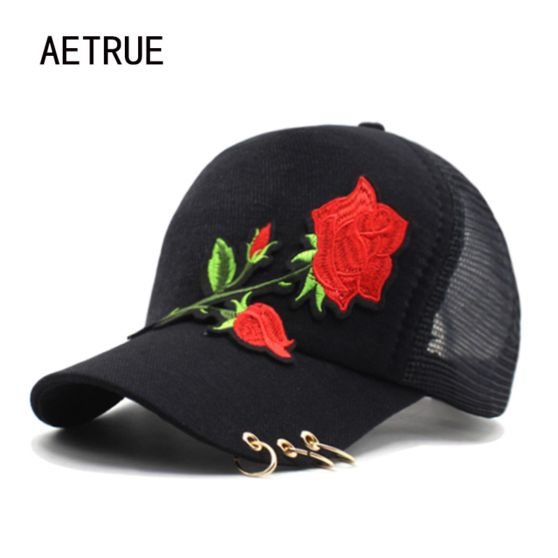 Women Baseball Cap Girls Snapback Caps Hats For Women Fashion 5 Panel Mesh Casquette Brand Bone Gorras Ring Flower Lady Sun Hat baseball cap men snapback casquette brand bone golf 2016 caps hats for men women sun hat visors gorras planas baseball snapback