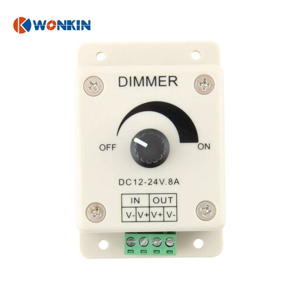 10ks stmívač 12v 8A 0-100% LED pásek stmívatelný nastavitelný regulátor jasu za horka