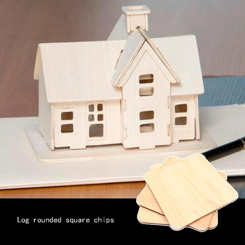 Multifunction Handcarft Gifts Plywood Square Wood Pieces Blank Plaque For DIY Craft Scrapbooking Building Model Wood DIY Crafts