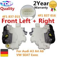 Cerradura de puerta AP01 4F1837016 4F1837015 para Audi A3 A4 A6 frontal izquierdo + derecho 3 2 V6 quattro S3 quattro 1 8 T 1 6 TDI 1 6 FSI 1 4 TFSI