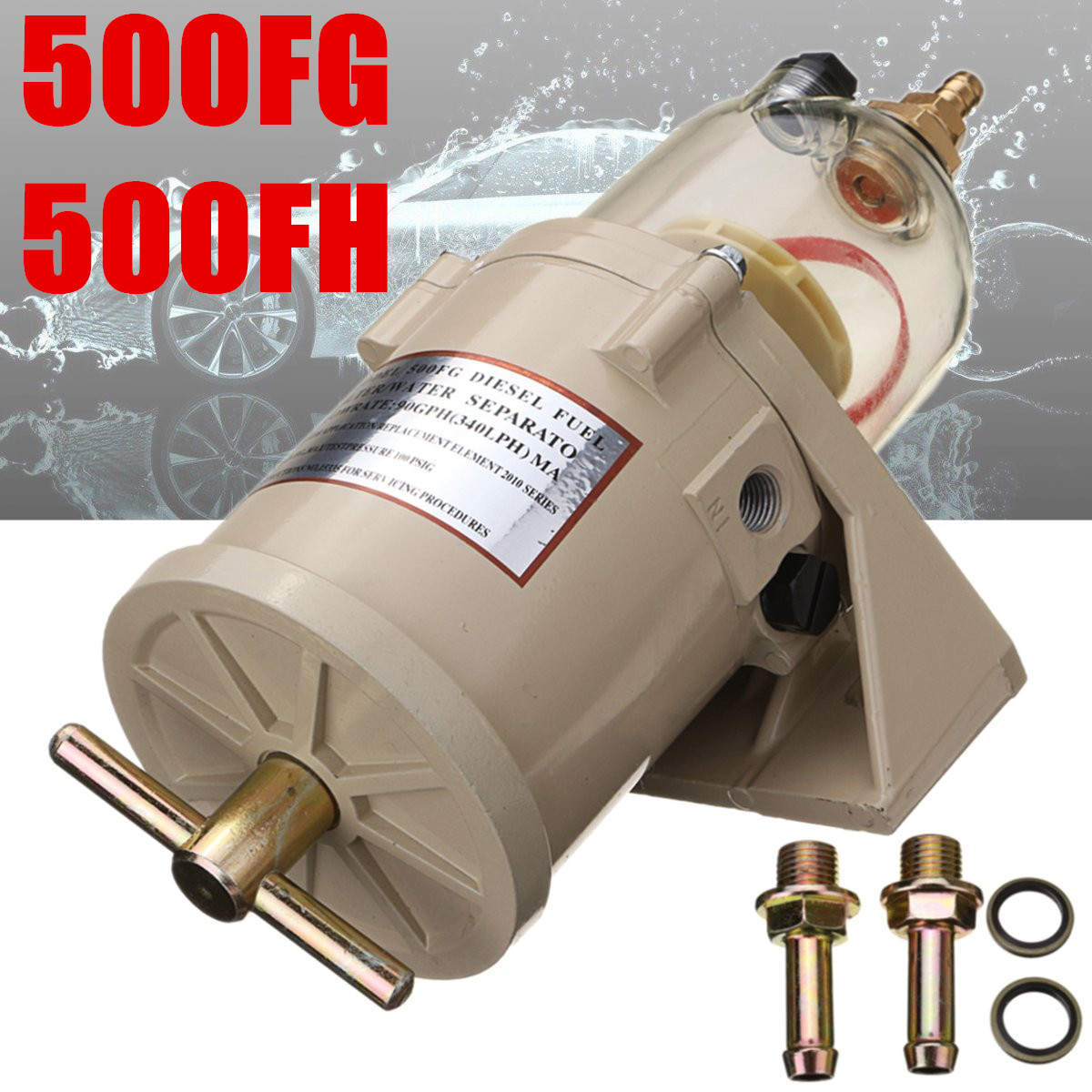 New 500FG 500FH Diesel Marine Boat Filter Water Separator Fuel Filter Water Separator Fit For Diesel