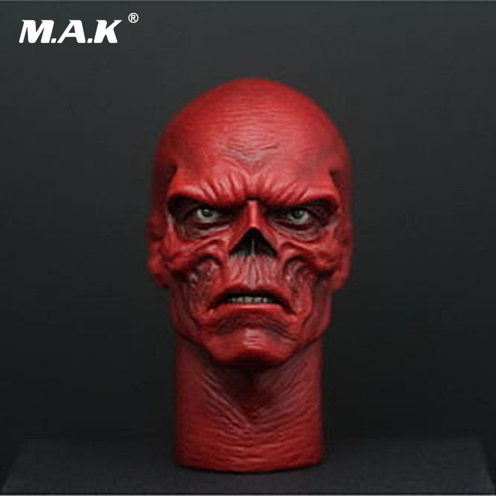1/6 Scale Head Sculpt Captain America Villain Leader Hydra Skull Head Carving for 12 inches Male Body Figure 1 6 scale the game of death bruce lee head sculpt and kungfu clothes for 12 inches figures bodies