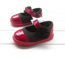 autumn flower children pu leather baby girls sneakers kids  fashion sneakers