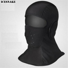 ICESNAKE Motorcycle  Winter Cycling Cap Windproof Fleece Thermal Face Mask Bandana Sport Ski Running Bicycle Neck Hat Head Scart winter bicycle windproof motorcycle wind stopper face mask hat neck helmet cap thermal fleece balaclava hat for men
