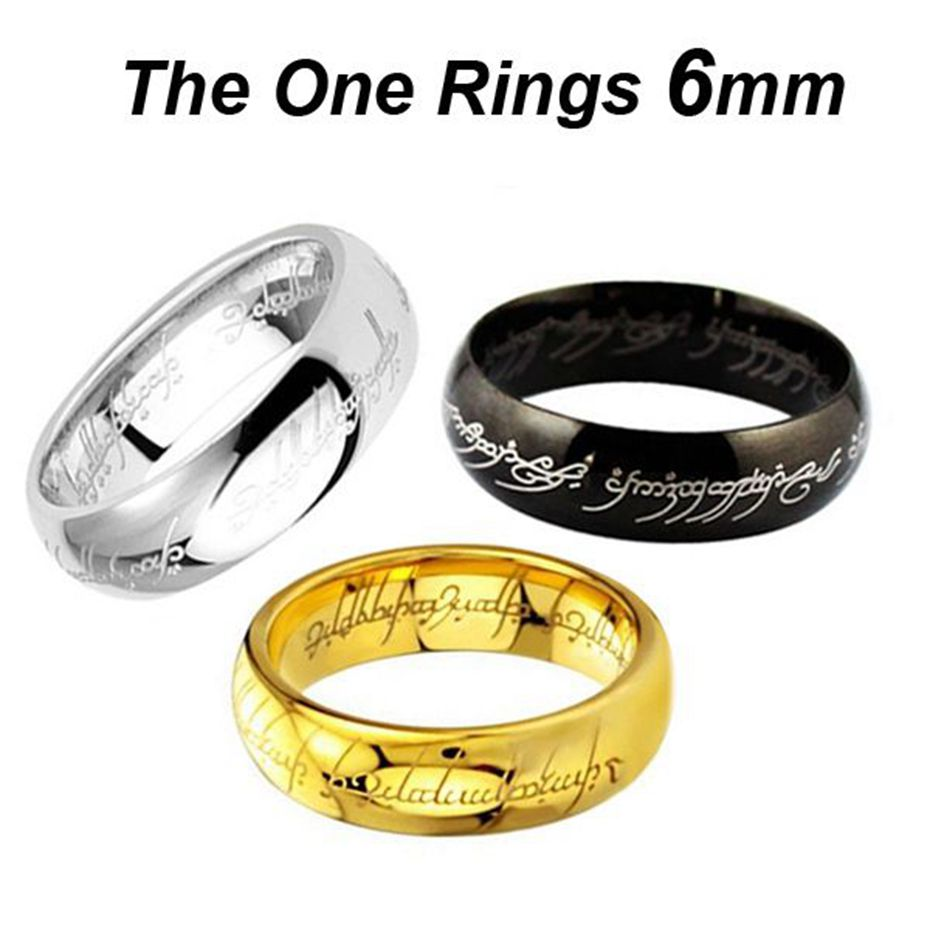 fashion midi rings steel one ring of power silver plated the lord of ring lovers wedding jewelry wholesale free shipping