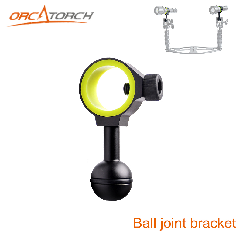 New Universal Ball Joint Bracket Arm For Buoyancy Fill Light Lamp Holder Diving Torch Photography Lights