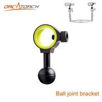 Novo universal suporte de bola conjunta de braço para flutuabilidade preenchimento luz titular da lâmpada mergulho tocha luzes fotografia       -