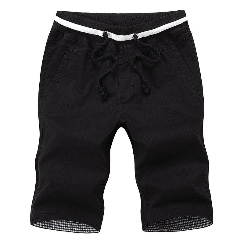 Рубашки 2018 летняя мода для мужчин в домашние хлопковые однотонные шнурок брюки мужские пляжные шорты Размер 4xl 5xl замыкают