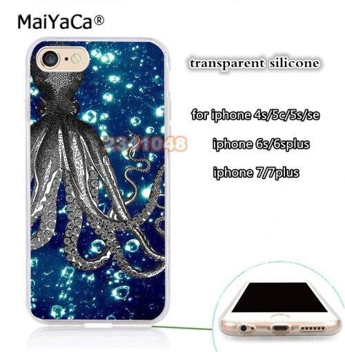 Polvo oceano azul de borracha de silicone macio caso do telefone móvel transparente para iphone 5s se 6 6s 6plus 7 7 plus 8 8 plus X XR XS MAX
