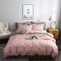 Комплект постельного белья однотонный, короткое стильное стеганое одеяло с двусторонним пододеяльником, односпальный, двуспальный, размер...