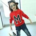 Primavera e Outono Meninos Meninas Camisolas para 4-14 Anos de Bebê Crianças Roupas de Algodão Meninos Meninas Meninos Casual Moletons Hoodies topos