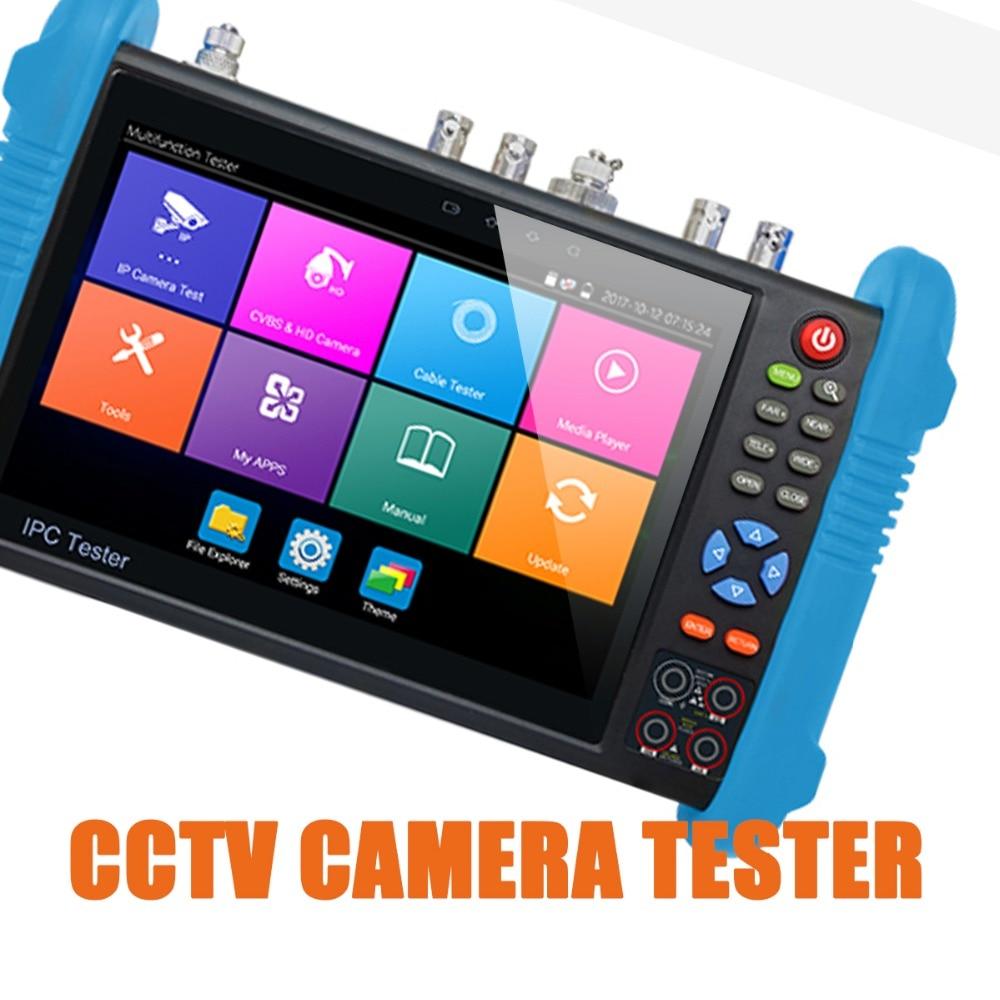 IPC9800 Plus 7Inch CCTV Camera Monitor Camera Video Test PTZ 8MP TVI  8MP CVI 5MP AHD SDI With Cable Tracer, Digital Multi-meter