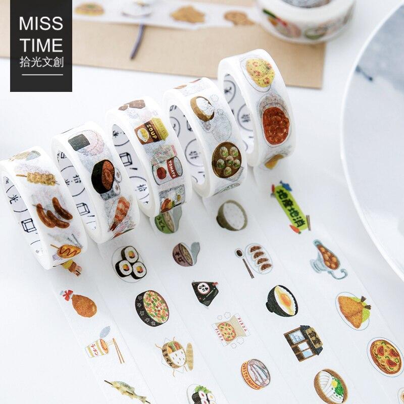 New Creative Kawaii Food Sushi Dessert Paper Fita Washi Tape Adhesive Tape DIY Scrapbooking Sticker Label Masking Tape Papeleria sushi mold diy