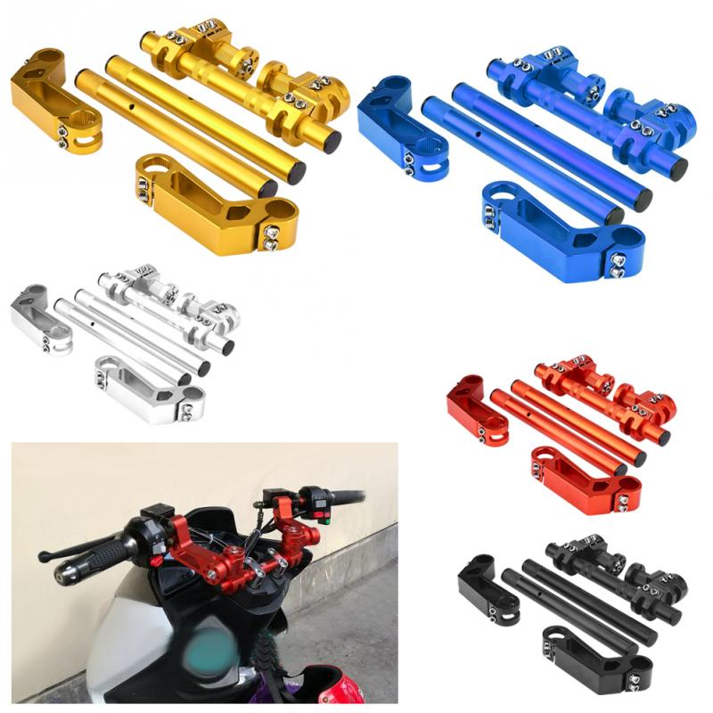 1 Set 7 8 22mm Adjustable CNC Motorcycle Steering Handlebar System for 125cc Pit Bike Dirt
