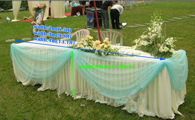 Wedding Supplies Luxury Outdoor Marriage Table Skirt With