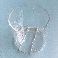 1 Набор ваза для цветов пластиковая цилиндрическая цветочный горшок акриловая декоративная ваза для сада домашний офис настольный декор для отеля