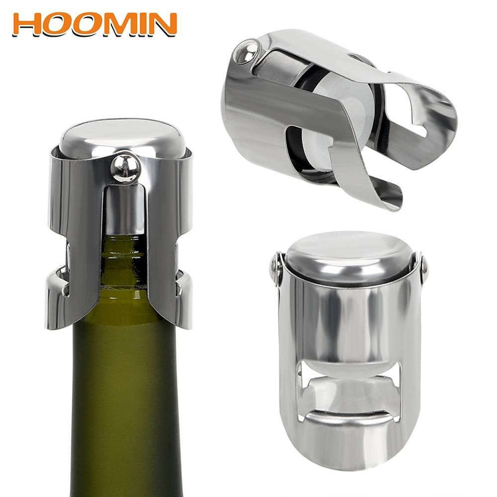 Stainless Steel Stopper Sparkling Wine Beer Bottle Plug Cork Pourer Sealer