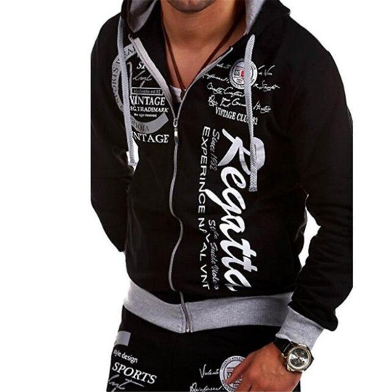 Hoodie Heren Met Rits.Kopen Goedkoop Hoodies Fashion Merk Mannen Afdrukken Sweatshirt