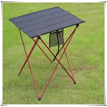 En Gros En Alliage D'aluminium Portable En Plein Air Pique-nique Table Jardin Pliant Bureau Avec Tissu Imperméable Oxford