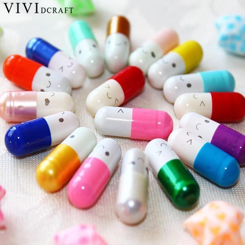 50pcs/set  Pvc Letter Storage Bottles Pill Wish Bottle Small Box Creative Craft 2cm X 0.8cm Cute Capsule Mini Paper Message