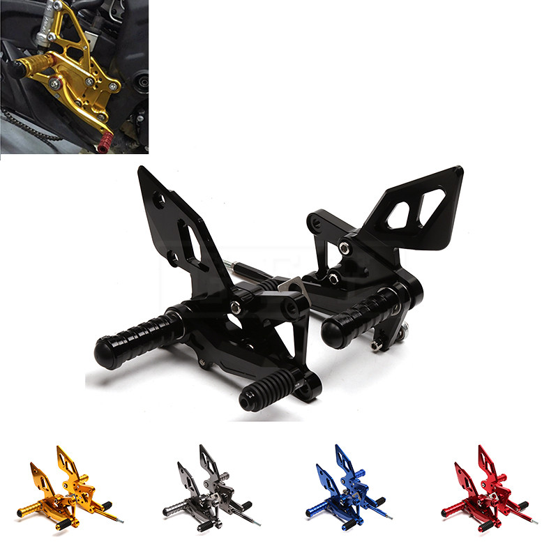 Motorcycle CNC Adjustable Rearset Footrests Rear Set Foot Pegs Pedal For Yamaha YZF R25 R3 2014 2015 2016 YZF-R25 Moto Accessory yzf r3 yzf r25 cnc aluminum adjustable shift lever for yamaha yzf r3 2014 2015