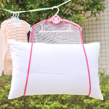 Multi-function Pillow Fixed Windproof Net Cover Dry Bag Hanging Mesh Transparent Household Toys Drying Rack