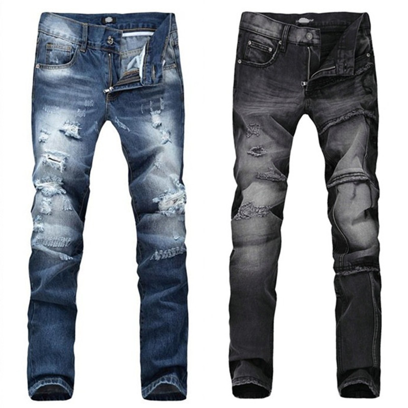 Aliexpress.com : Buy European Famous Brand Blue/Black Jeans Men ...
