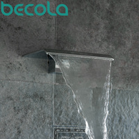 Free Shipping BECOLA Basin Faucet Spouts Shower Faucet Spouts Bathroom Faucet Accessories Wall type Waterfall faucet LT 301B