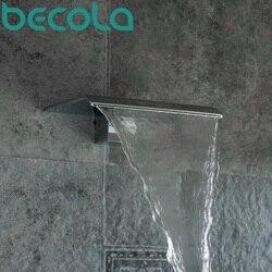Freies Verschiffen BECOLA Becken Wasserhahn Tüllen Dusche Wasserhahn Tüllen Bad Wasserhahn Zubehör Wand typ Wasserfall wasserhahn LT-301B