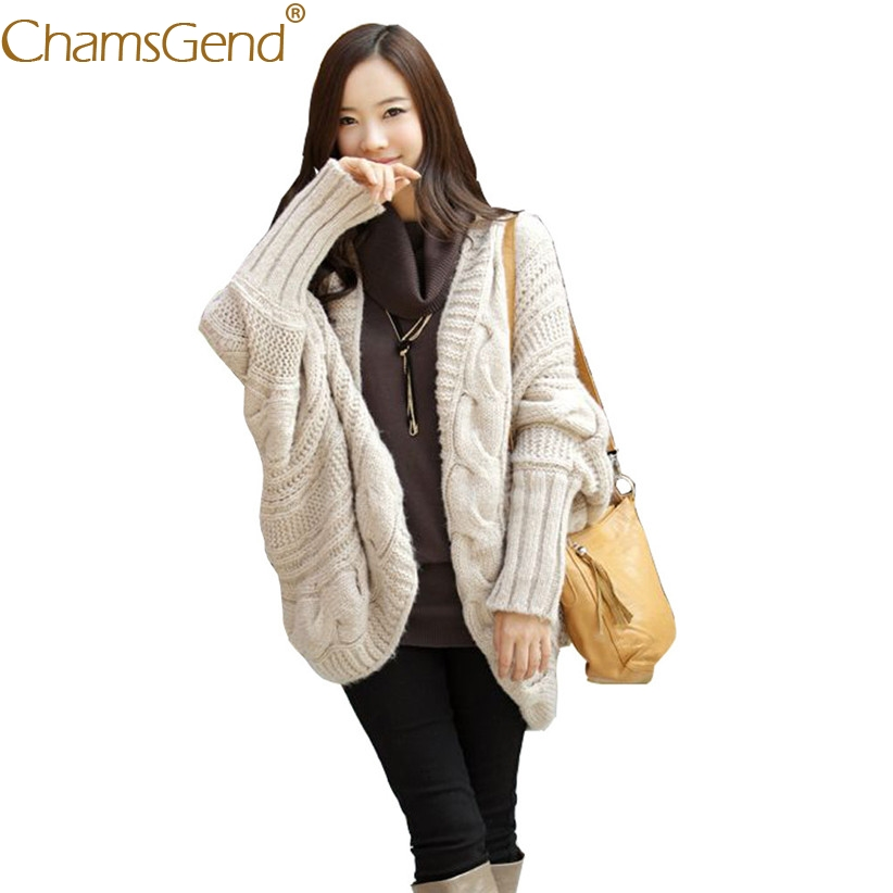 Chamsgend Drop Shipping Sweater Hot Women Casual Knit Batwing Long Sleeve Cardigan Coat Streetwear Outfit 71025