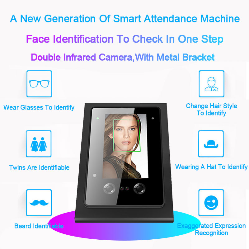 OULET Biometric Face Facial Recognition Time Attendance font b System b font TCPIP RFID Access Control