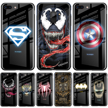 Luxury Marvel Luminous tempered  cover for iPhone XS MAX XR X 8 7 6 6s Plus Samsung S8 S9 S10 plus Note8 Note9 Note 10 Plus Pro luxury square leather for iphone xs max xr x xs 6 6s 7 8 plus fashion phone case for samsung s8 s9 s10 plus note10 pro note8 9