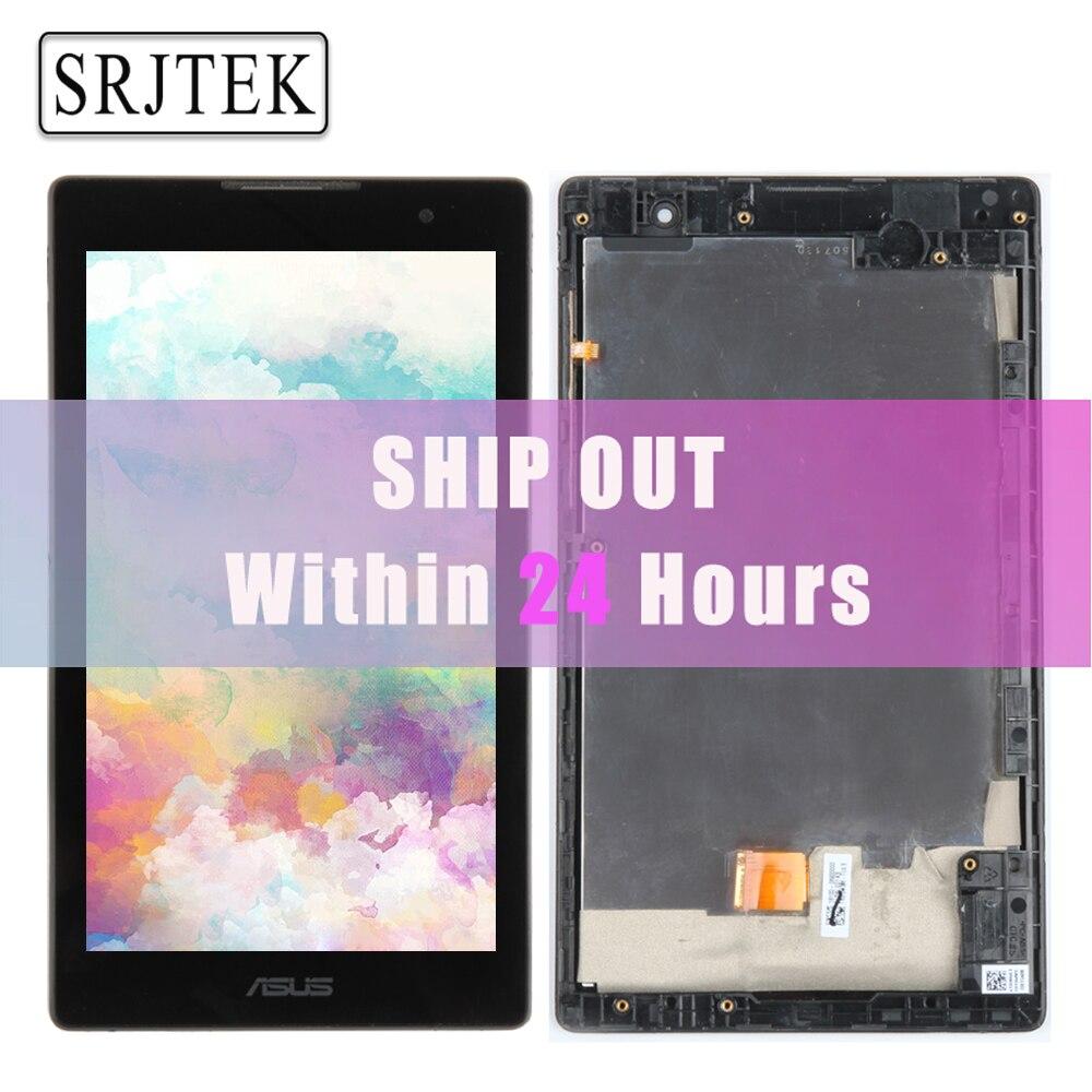 D'origine Pour Asus ZenPad C 7.0 Z170 Z170CG P01Y Plein LCD Affichage Matrice Écran Tactile Digitizer Capteur Z170CG L'assemblée avec cadre