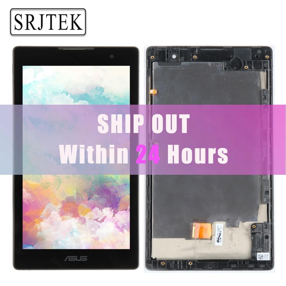 Originale Per Asus ZenPad C 7.0 Z170 Z170CG P01Y Pieno Display LCD A Matrice Touch Screen Digitizer Sensore Z170CG Assembly con telaio
