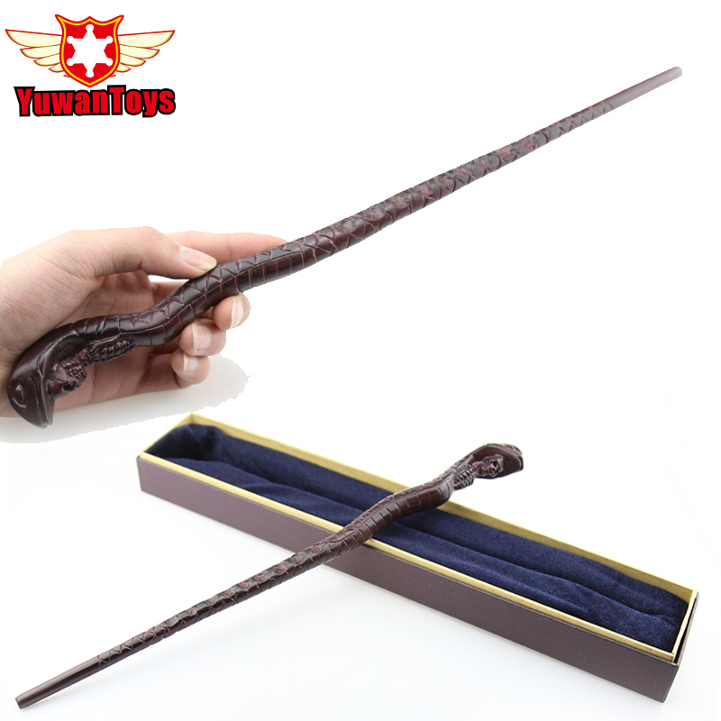 Harri Potter Wand Nagini Genuine Metal Core Exquisite Magic Snake Wand With High Quality Gift Box Perfect Cos Props Movie Theme