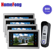 Homefong video  Doorbell Camera Intercom Monitor 7 inch Touch Screen 1V4 SD Card Support Dualway Talk door phone security system
