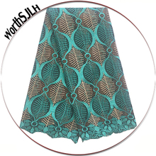 Net Latest Lace Fabric 2018 Wine French Chantilly Suisse Green New Beaded African Laces High Quality For Wedding