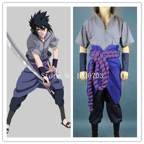 Naruto Sasuke Uchiha Cosplay Costume Anysize