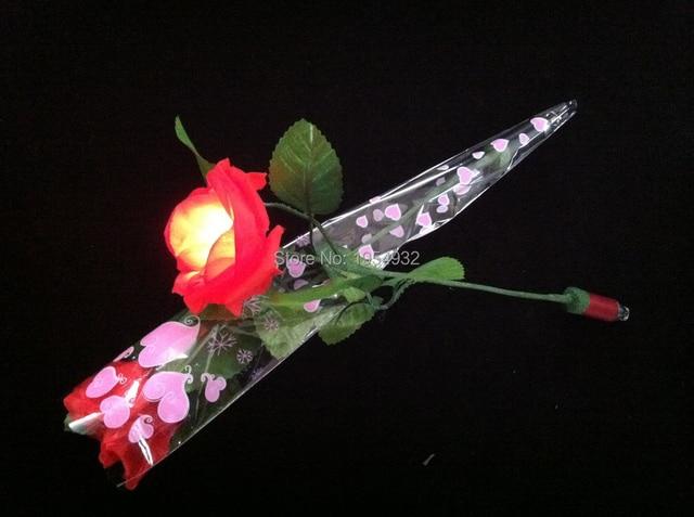 Led Licht Schoenen : Valentinstag geschenk rose einzige zweig led dekorative blume