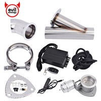 evil energy High Proformance 2.5 Inch Electric Exhaust Cutout System E Cut Vacuum Pump Valve With Remote Y Pipe Electric Cut Out|valve y|valve electric|valve vacuum -