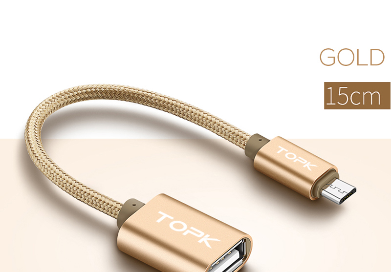 TOPK Micro USB 2.0 OTG Cable And USB OTG Adapter Or Converter Android Mobile Phones 17