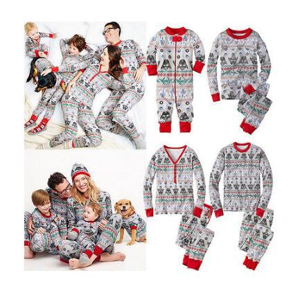 Christmas Family Pajamas Women Kids Mother Daughter Father Son Toddlers Clothes Set Sleepwear Nightwear Pyjamas