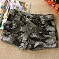 Calções camuflagem Moda básica new board shorts Mulheres Cordão Solto calças Curtas quentes Camuflagem calções