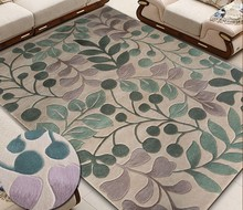 Carpet with leaves New Zealand Wool Brand carpet for Hallway Bedroom Living room Aisle Bedside 100% wool Carpets