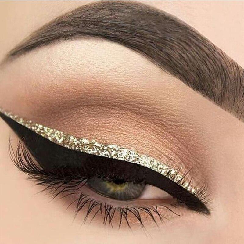 Audacieuse sliver eye linerliquide gold glitter liner Shiny Long Lasting Eye ZK-88