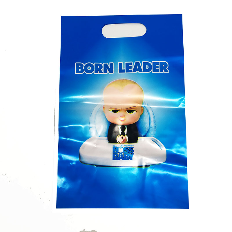 10pcs/pack Baby Boss Theme Plastic Candy Bags Baby Shower Party Decorations Baby Boss Gift Bags