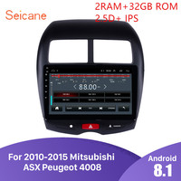 Seicane Car Multimedia player For 2010 2011 2012 2015 Mitsubishi ASX Peugeot 4008 2DIN Android 8.1 GPS Navigation radio stereo