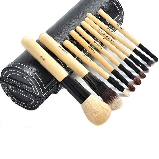 Бесплатная доставка 9 шт. макияж кисти комплект пудра Eyeshadow карандаш для глаз для губ косметические кисти Maquiagem с коробкой