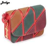 Badiya искусственная кожа HASP Дизайн Для женщин сумка лоскутные модные Сумки для Для женщин Краткое Дизайн женские офисные Сумки