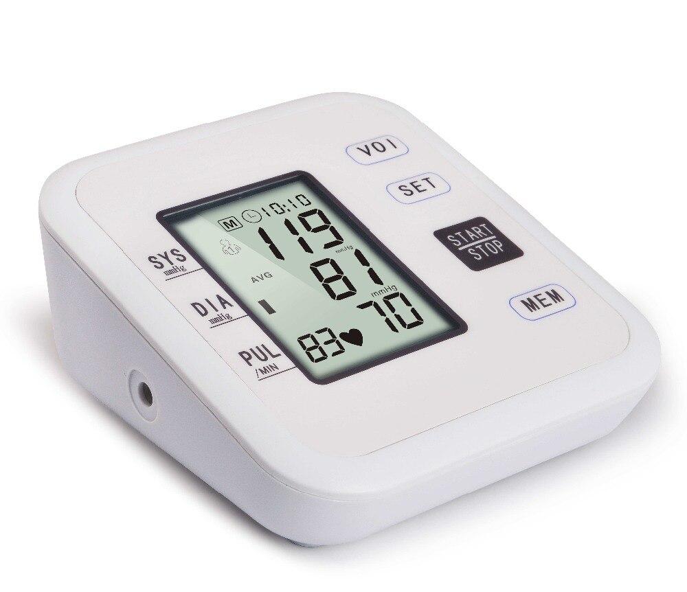 Digital speech Upper Arm Blood Pressure Pulse Monitors tonometer Portable health care bp Blood Pressure Monitor sphygmomanometer